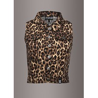 On The Prowl Womens Leopard Animal Print Vest