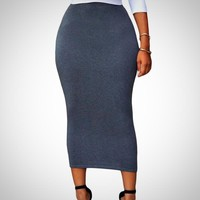 Long Bodycon Pencil Skirt