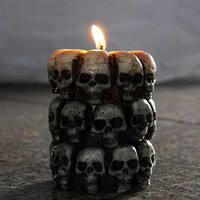 Cool Skull Pillar Candles