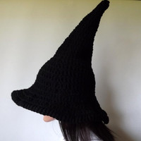 Witch Hat Crochet- The Craft Keeper- Traditional Witch Hat Perfect Pointy Halloween Yule Fashion