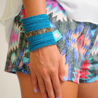 RESTOCK: Off The Cuff Bracelet: Teal - One