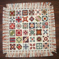 Dollhouse Rug, Patchwork Quilt Design, 1/12 scale miniature