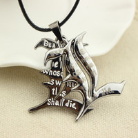 Death Note Double l Yagami Non-Mainstream Necklace Smart Anime Fashion Jewelry Pendant Cosplay Unisex Accessories