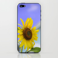 Summer Cottage Sunflower iPhone & iPod Skin by Wood-n-Images