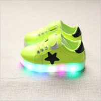 Led Kids Light Up Sports Shoes