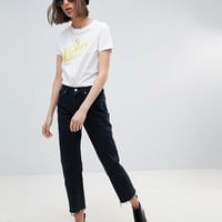 Reclaimed Vintage revived Levi jeans in black with raw hem at asos.com