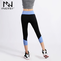 Innersy New Ladies Cropped Trousers Yoga Exercise Outdoors Running Sport Yoga Pants Moisture Wicking Outdoor Sport Pants Jzh101