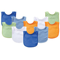 Luvable Friends 10-Pack Baby Bibs | Affordable Infant Clothing