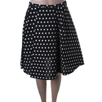 Vivetta Womens Lilith Embroidered Polka Dot A-Line Skirt