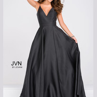 Jovani JVN48791 Spaghetti Strap A-Line Formal Prom Dress