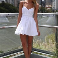 White Lady Luck Dress Frill hem Dress tulle Underlay from xeniaeboutique