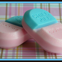 CHILL PILL SOAP - Cotton Candy - Gag Gift - Bridal Baby Shower - Doctor - Medical - Nurse - Mental Health - New Mom - Babysitter - Teens