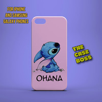 STITCH OHANA Design Custom Phone Case for iPhone 6 6 Plus iPhone 5 5s 5c iphone 4 4s Samsung Galaxy S3 S4 S5 Note3 Note4 Fast!