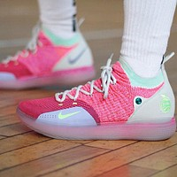 Bunchsun NIKE ZOOM KD11 Trending Men Breathable Sport Basketball Shoes Sneakers Pink