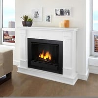 Real Flame Silverton White Gel 48-inch Fireplace