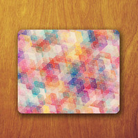 Geomatric Galaxy Mouse Pad Abstract Colorful Beautiful MousePad Office Pad Work Accessory Personalized Custom Gift