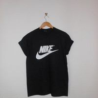 classic black nike swag style top tshirt fresh boss dope celebrity festival clothing oversized slouchy fashion urban unique sexy