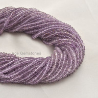 Genuine Pink Amethyst Beads Rondelle Faceted Semiprecious Gemstone Beads A+ Grade, 3-4 mm, 35 cm Strand