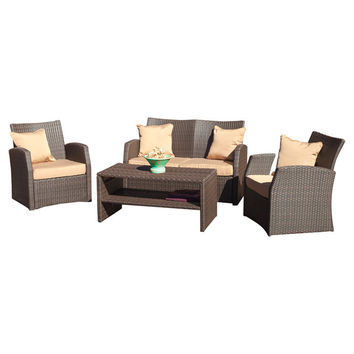 Driago Outdoor 4 Piece Seating Group with Cushions