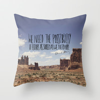 Abbey // Escape Throw Pillow by Leah Flores
