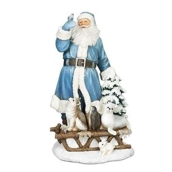 Roman Northern Ice Santa With Animals Figurine-633253