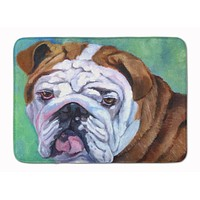 Admiral the English Bulldog Machine Washable Memory Foam Mat 7349RUG