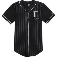 Civil Team Captain Baseball Jersey - Mens Tee - Black