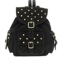 ASOS Suede Studded Backpack at asos.com