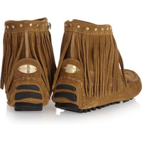 Jimmy Choo Zampa suede moccasin ankle boots – 50% at THE OUTNET.COM