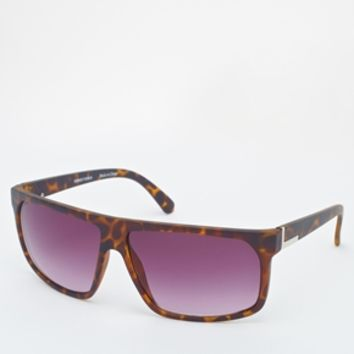 ASOS Flat Brow Sunglasses - Brown