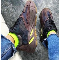 Adidas Yeezy 700 Runner Boost Fashion Vintage Sport Running Shoes Sneakers Coffee