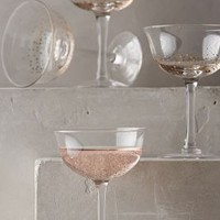 Bubbled-Up Coupe Set by Anthropologie in Gold Size: Set Of 4 Kitchen