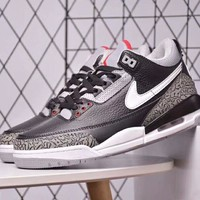 NIKE & Air Jordan 3 new fashion camouflage print sports air cushion men shoe Black