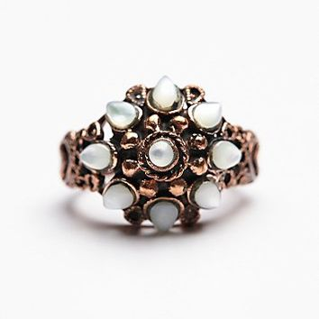 Tiger Mountain Womens Pagoda Ring - Copper