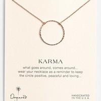 Women's Dogeared 'Karma Sparkle' Boxed Pendant Necklace - Rose Gold