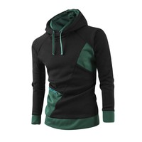 New Men's Uniquely Seamed Hoodie