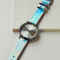 Free People Estelle Iridescent Leather Watch
