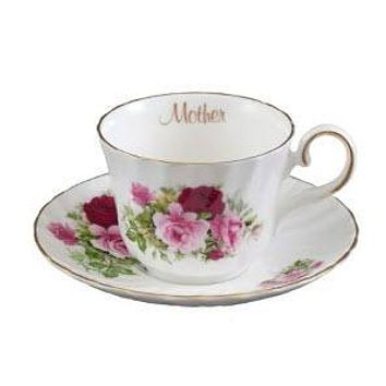 Rare Royal Patrician Summertime Rose Bone China Made in England Mother Teacup and Saucer - Only 4 Sets Available!