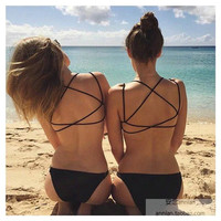 Brandy Melville Sexy Hot Lingerie Summer Hollow Out Top
