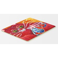 Big Red Cat at the fishbowl Kitchen or Bath Mat 20x30