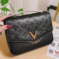 Hipgirls Louis Vuitton LV Hot Selling Retro Embossed Lady Messenger Bag Cross Body Bag