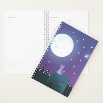 Cat Under The Moonlight Planner