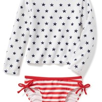 2-Piece July 4th Rashguard Set for Toddler | Old Navy