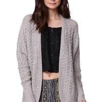 LA Hearts Oversized Textured Cardigan - Womens Sweater