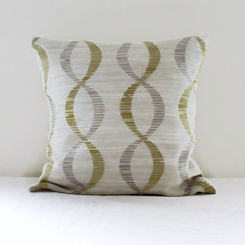 Gold and grey cushion cover, textured pillow cover, gold cushion, 16 inch 40 cms cushion, warm home decor, handmade in the UK