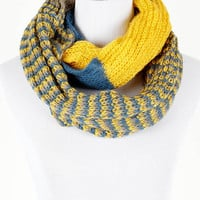 Yellow Knitted Infinity Scarf