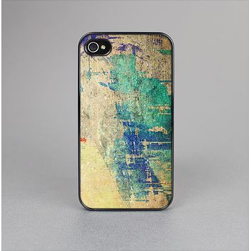 The Grunge Multicolor Textured Surface Skin-Sert for the Apple iPhone 4-4s Skin-Sert Case