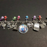 The big bang theory stainless steel charm bracelet