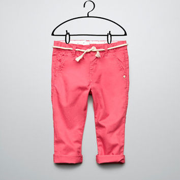 chino style trousers - Trousers and jeans - Baby girl - Kids - New collection - ZARA United States