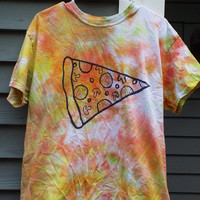 Tie Dye Pizza Shirt, Adult Large Tie Dye Shirt for the Pizza Lover, Pizza Gift, Pizza T-shirt, College Student, gifts for him, Pizza Party